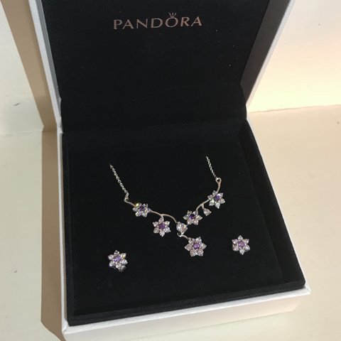 4bee0a6f5 @livmitchell. 8 months ago. Guildford, United Kingdom. Pandora Matching  Necklace & Earring gift set ...