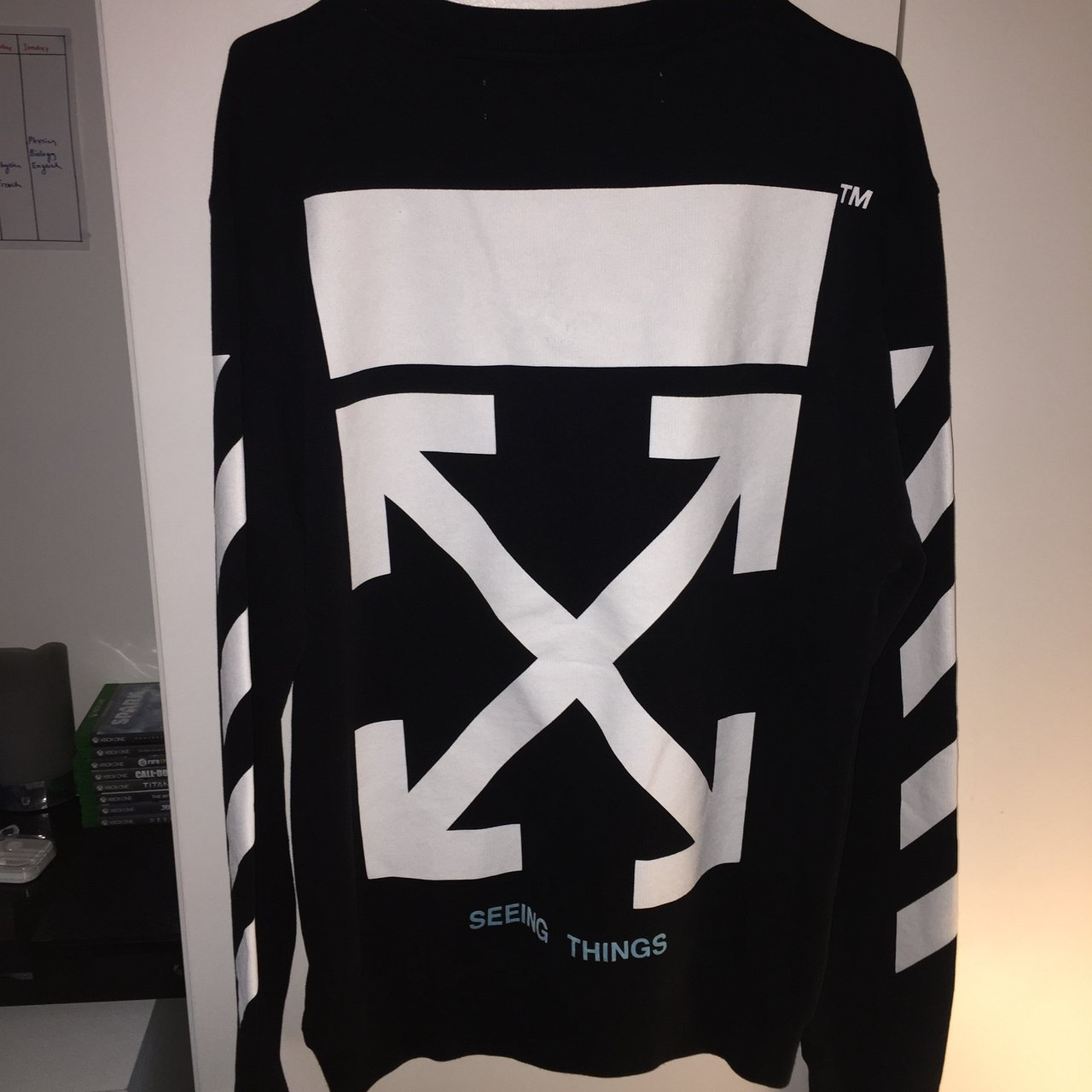Off White Virgil Abloh sweater jumper Very Good condition - Depop 535169c6bf72