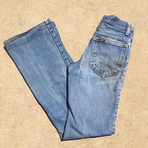 9098340c 70s vintage Lee bell bottom jeans. Great condition with some - Depop