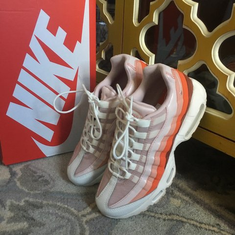 3750eab6f945 Nike Air Max 95 in Barely Rose Coral Stardust Labeled a size - Depop