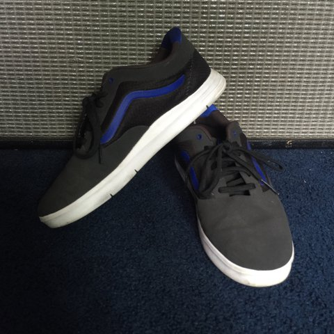 02a3868cdd Vans LXVI Graph. Charcoal   Royal Blue. Worn a handful of   - Depop