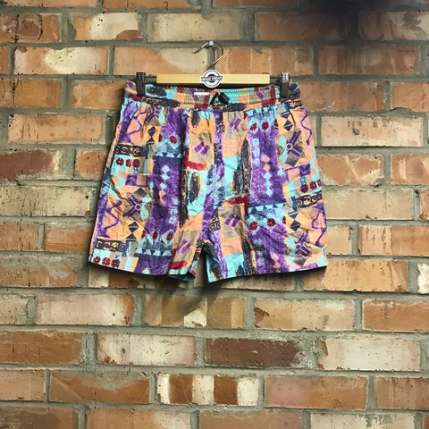 eb1d2555ca Vintage Crazy Wavy Board Swimming Shorts • Includes • 30