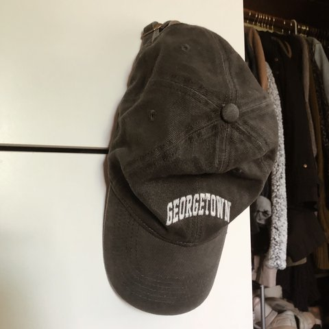 0bc83f8e56 faded black georgetown baseball cap from brandy melville, i - Depop