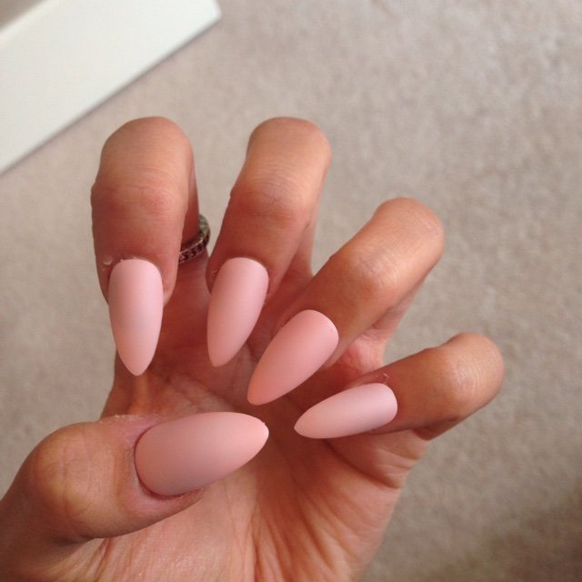 Gorgeous matte baby pink nails for the lovely @kiwi300 💕💕I - Depop