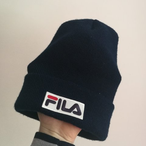 ef1acd57b99 Fila logo beanie hat Adult size In excellent condition No   - Depop