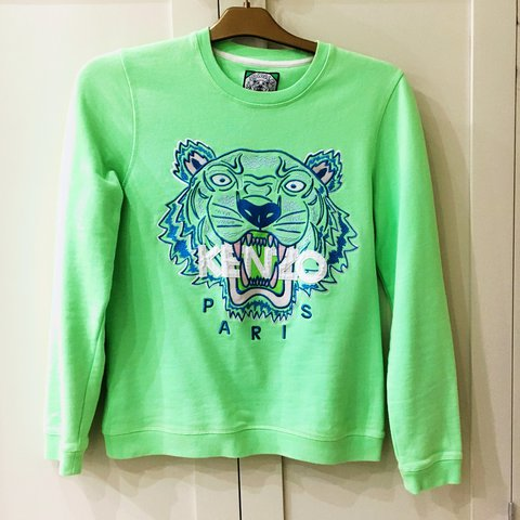1ac1091d @lucycharlesonx. 2 years ago. Manchester, UK. Bright lime green kenzo jumper .