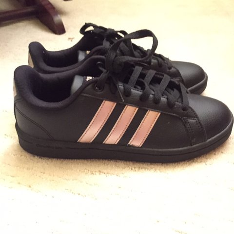 reputable site 319c7 31f53  wassahdude. 2 months ago. United States. Adidas neo cloud foam shoes rose  gold and black.