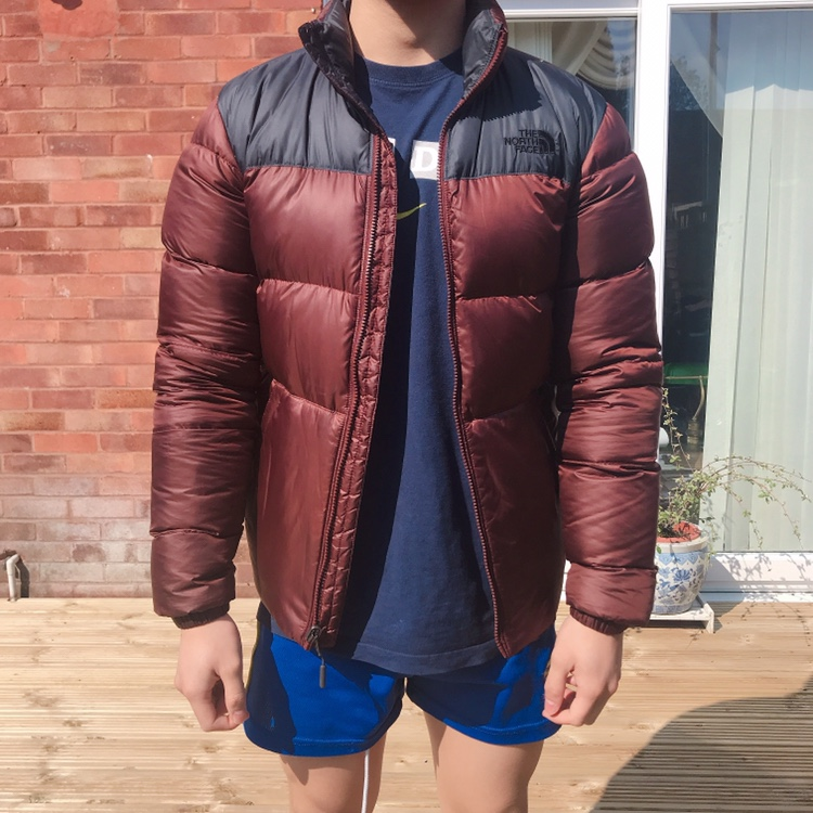 7b464ad1e The North face Nuptse III down jacket Sequoia Red... - Depop