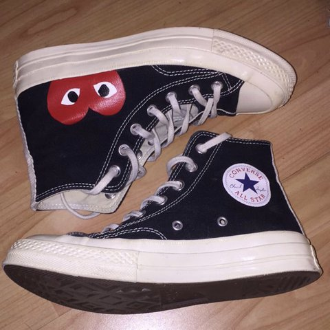 0d2b80f00e68 CDG play converse high tops 9 10 condition Love them but  ( - Depop