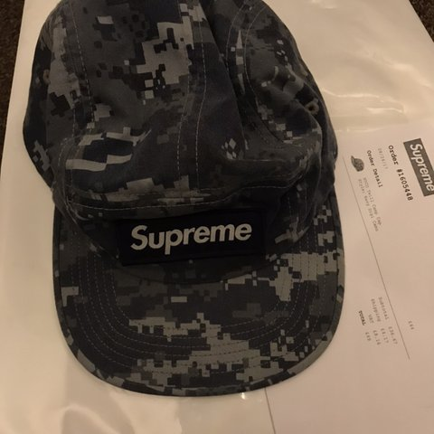 c8a0abc0 Supreme NYCO Twill Camp Cap, Navy Digi Camo from for £35 or - Depop