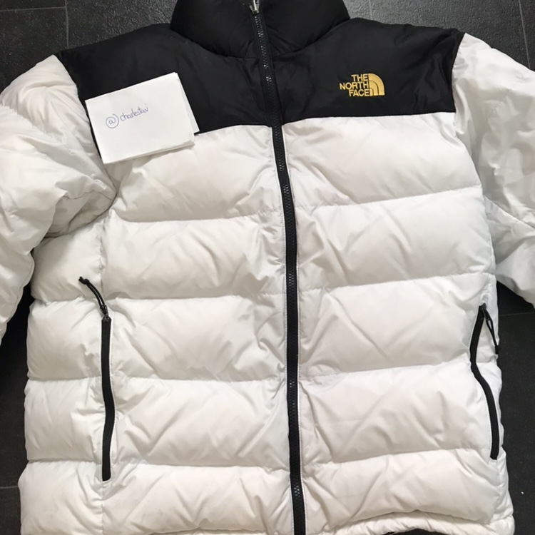 02eab57637186 Limited edition gold logo The North Face 700 down... - Depop