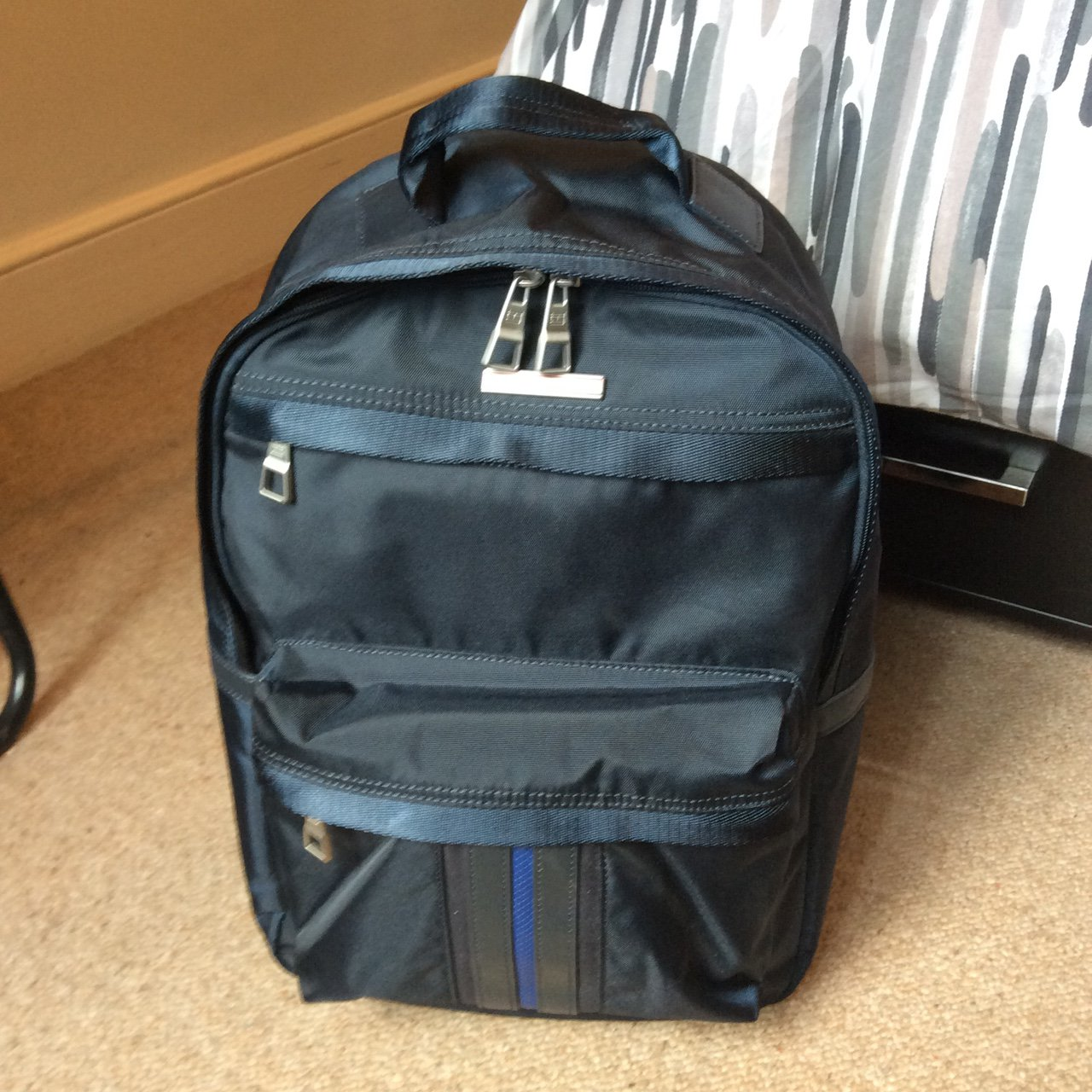 0dabbb7afad2 Tommy Hilfiger Jeremy men s backpack in blue. Used once - Depop