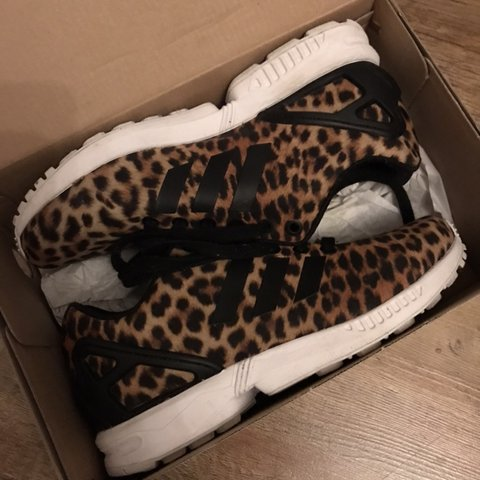 5b670e0ee33d @chel23xx. 9 months ago. Northolt, United Kingdom. Adidas ZX Flux in leopard  print ...