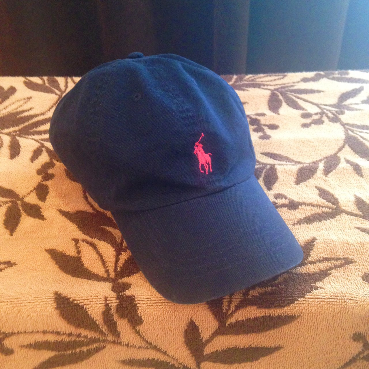 Vintage Ralph Lauren Polo Hat   Leather strap   Rare Blue - Depop 8207b771a193