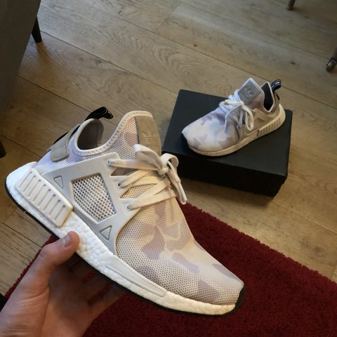 4303dc526b061 Adidas nmd-xr1 camo 9 10 condition Size uk8 Worn a couple - Depop