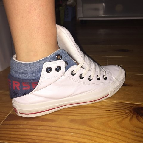 f2611dda63f9 Limited Edition white high top converse. Worn once
