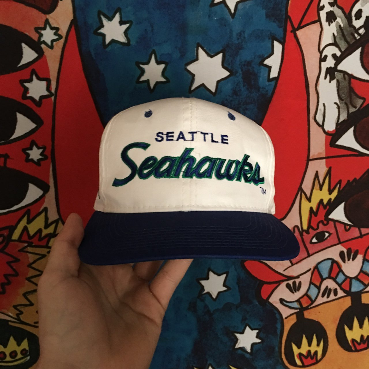 f26a0b08128ce 🔥🔥🔥Vintage Seattle Seahawks Sports Specialties Twill as a - Depop