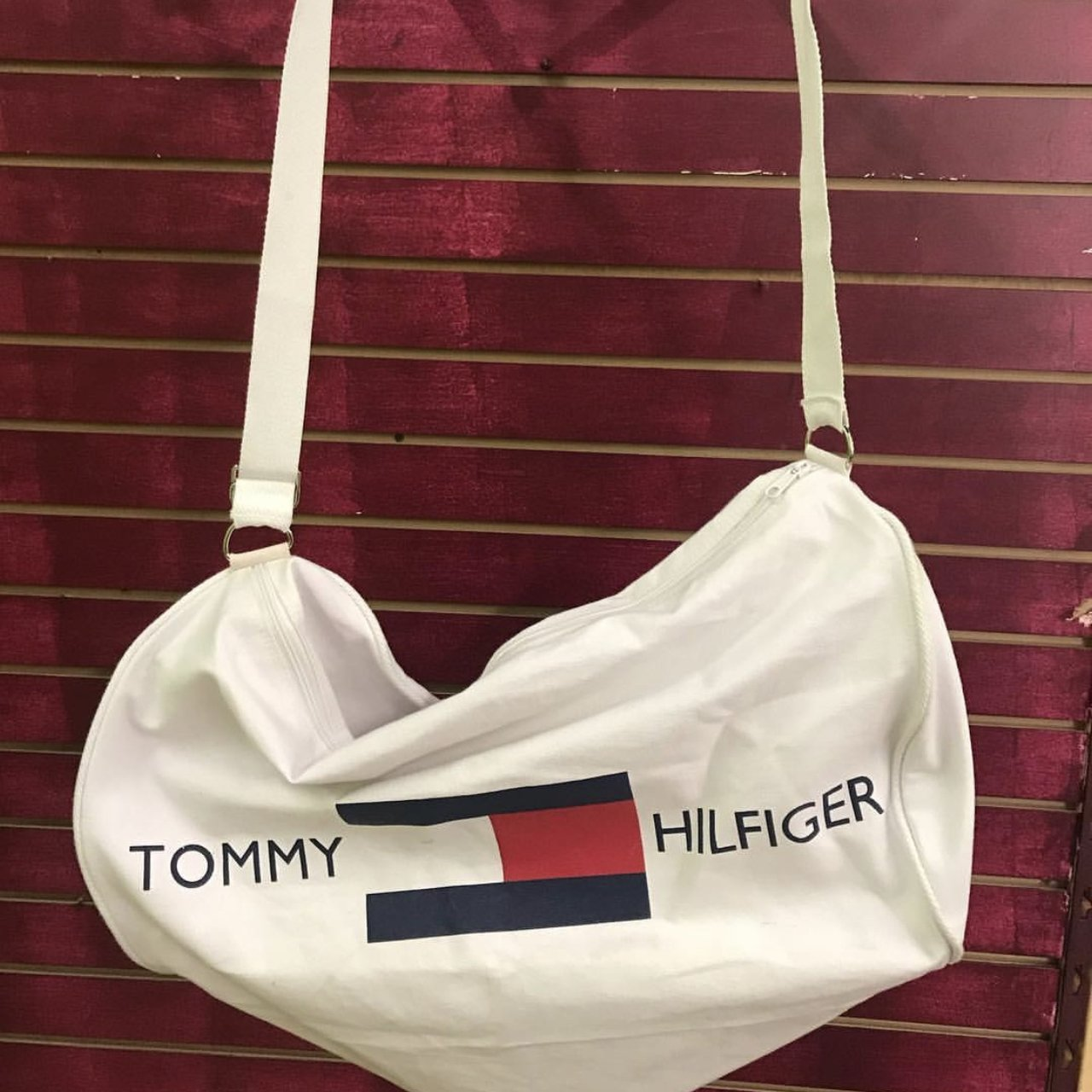 Vintage 1990s Tommy Hilfiger mini gym bag - Depop 10e825a3e0bbf
