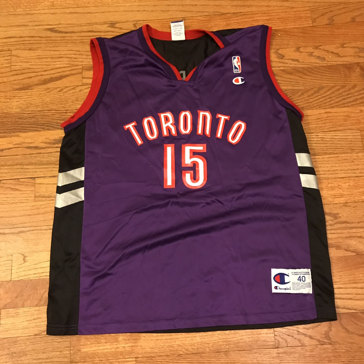 sports shoes 1e7cb 927ab Vintage raptors Vince Carter jersey - Depop