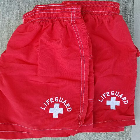46882dbca2 FREE SHIPPING AUTHENTIC LIFEGUARD SWIM SHORTS (2) Red for - Depop