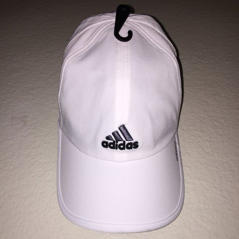 c9206293 WHITE ADIDAS HAT 🔥 Condition: New (never worn) similar to - Depop