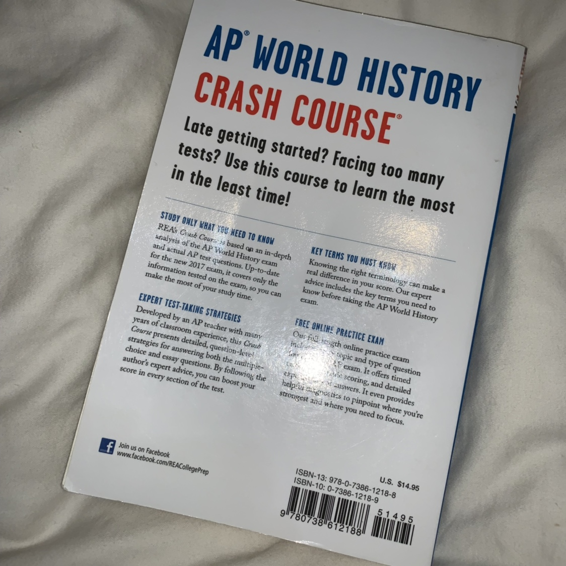 ap world history crash course book for the ap exams    - Depop