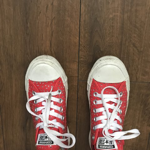 bb9043bc0dc Red waterproof converse. Hardly worn. Nice touch of colour - Depop