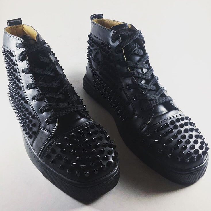 Black Christian Louboutin High Tops Dm For Prices Depop