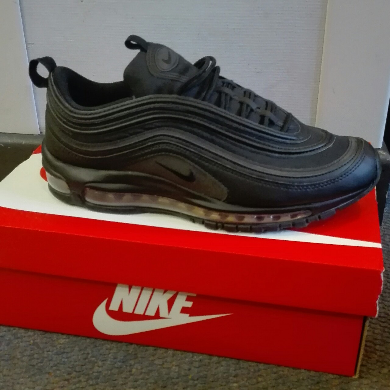 Nike Air Max 97 PRM SE BlackGold reflective black Depop