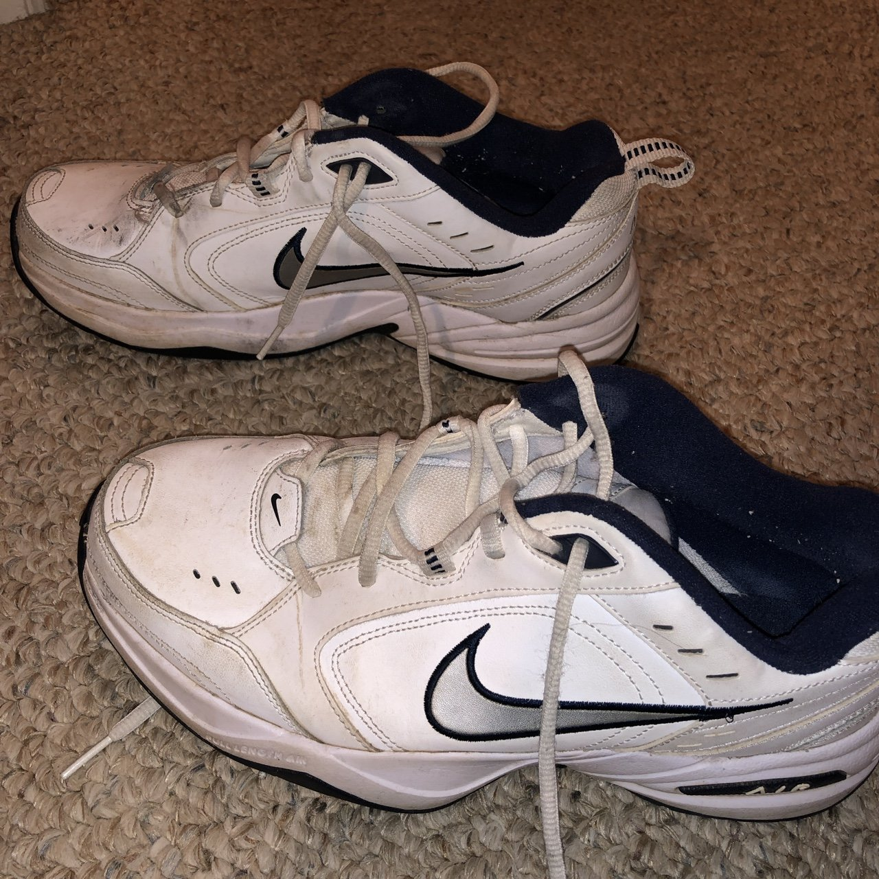 38eafddc6191 nike air monarch dad shoes a bit beat up but still have dad - Depop