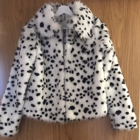 c3fcb2ea4f5f @ht89. 10 months ago. Dartford, United Kingdom. ASOS Dalmatian Print Faux  Fur Coat - UK Size 6 however would ...