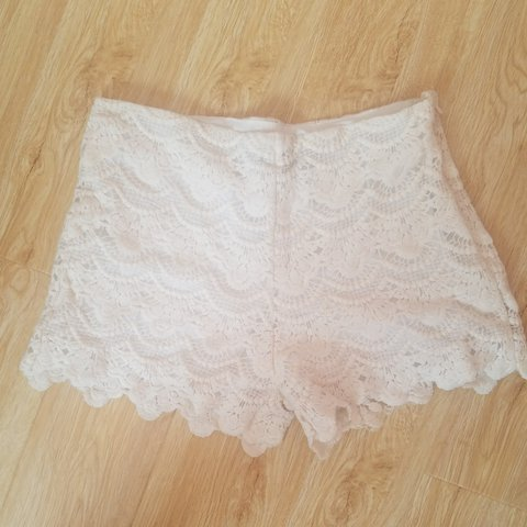 Size 8 Lace Crochet Shorts Perfect For Summer From Select Depop