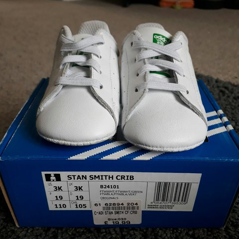 best sneakers 1e0a5 2a693 Adidas Stan Smith Baby Trainers- 0