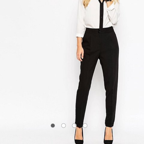 63fbc4226c0 ASOS Tailored High Waisted Trousers With Turn Up Detail. RRP - Depop