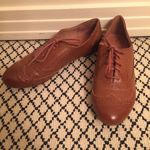 d953279bf562 Aldo shoes. These are medium tan leather loafers. The shoes - Depop