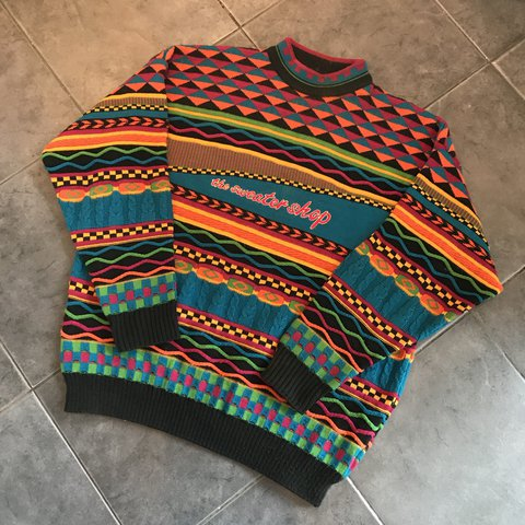 1ea113d1f Vintage sweater shop jumper in good used condition. Size and - Depop