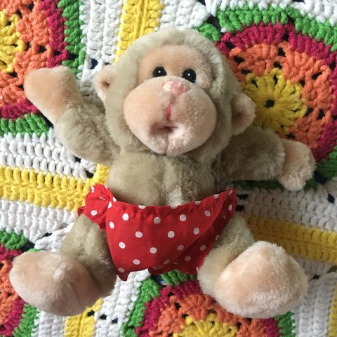Giant Cyber Monday Sale Cute 80s Baby Chee Chee Monkey A Depop