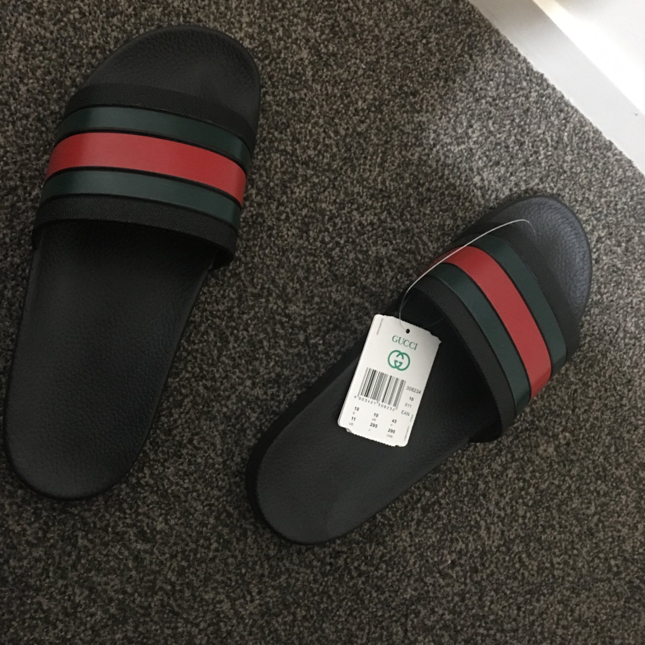 Fake Gucci Flip Flops. price is negotiable hmu with , Depop