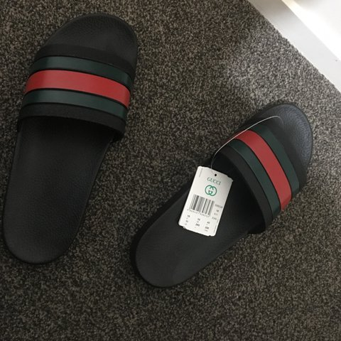 34b189f08 Fake Gucci Flip Flops. price is negotiable hmu with some - Depop