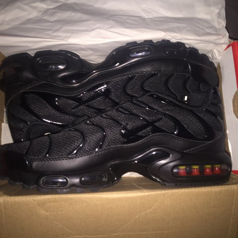 7e65c221e04 ... ireland nike air max plus tuned 1 tn triple black size 9 rrp 130 depop  eed23