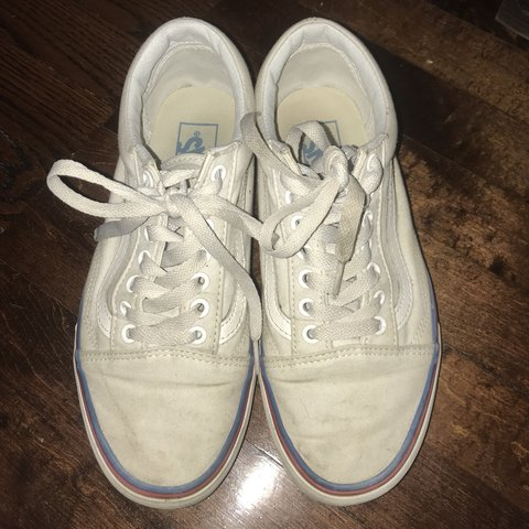 a198b7898c6 ON HOLD ⭐ White rainbow foxing old skool Vans. They are at - Depop