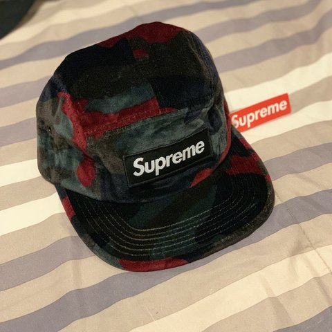 c6098a08aff Supreme Velvet Camo Camp Cap. Tag still on. VNDS. From Kith - Depop