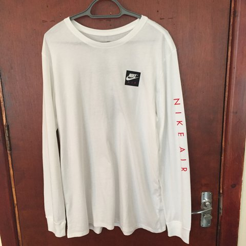 6613ac04d0e3 White Nike Air Long Sleeve Top XL - Depop