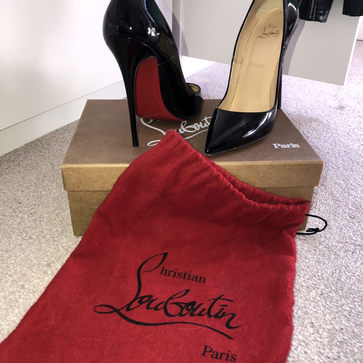 18d11ee3d72 Christian Louboutin, So Kate, 120mm, black patent... - Depop