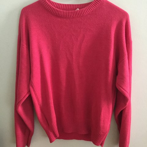 1980s pink pullover sweater  80s  pink  sweater  pullover - Depop 81625dfb5