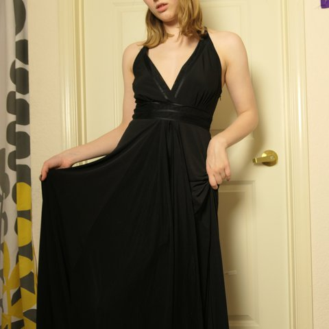 3606e0d1dd6 Calvin Klein floor length black gown. Would beautiful for a - Depop