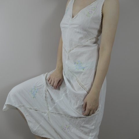 Victoria s Secret white cotton embroidered nightgown. In a - Depop 6bb05dc0b