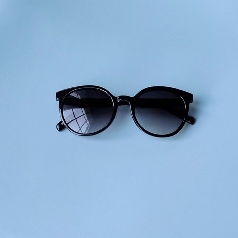 5fb7225fe J. Crew round sunglasses. Includes pouch and original tag. - Depop