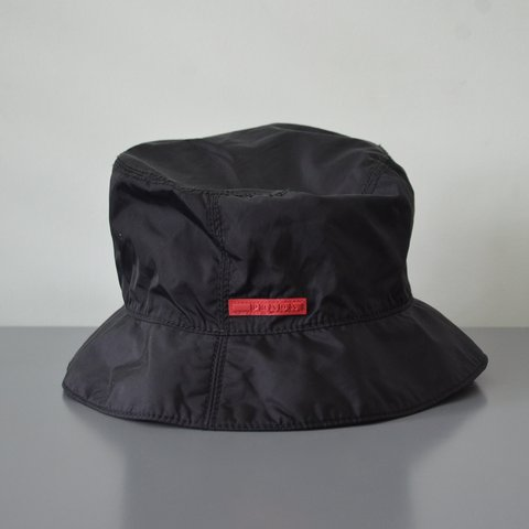 58266a8cd82 @ichbinh. last year. Chicago, United States. Very cool 90s Prada bucket hat  red label. In size L ...