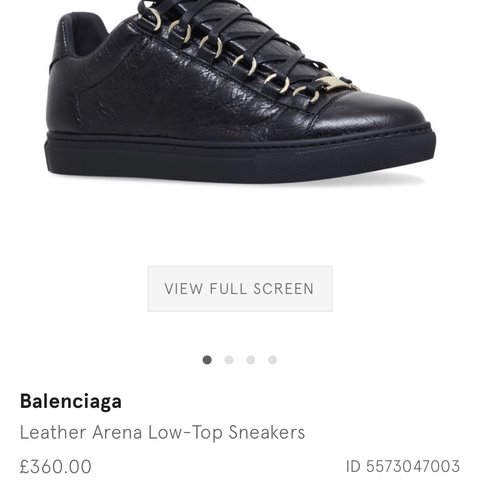 5e1e8e2b559e Balenciaga Leather Arena Low Top-Sneakers still in 10 10 I 5 - Depop